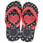 Disney Mickey Minnie Mouse I Heart Mick Women Ladies Thong Flip Flop Sandals