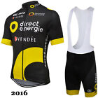 Ropa de ciclismo: Direct Energie maglie maillot cycling jersey bib shorts