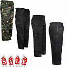 NEW MENS GENTS TROUSERS WORK WEAR COMBAT PANTS BOTTOMS TOUGH STITCHED BELT LOOPS