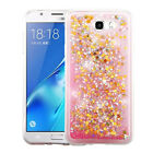 Samsung GALAXY J3 Emerge Bling Hybrid Liquid Glitter Rubber Protector Case Cover
