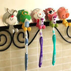 Cartoon Animal Toothbrush Holder Wall Mounted Bathroom Suction Cup Natural