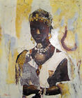 Hand Painted Art Original Oil on Canvas 20 x 24 Beautiful Black Princess