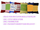 "14"" GREEK LETTER  HAND CRAFTED PILLOW Alpha, Beta, Omega, Kappa, Phi, Psi, Sigma"