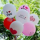 "Graceful 10Pcs ""I LOVE YOU"" Wedding Party Decoration 12 Inch Latex Balloons"