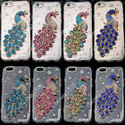 Bling 3D Peacock Transparent TPU Soft Ultra Thin Back Case Cover Skin #2 M13