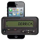 PERSONALIZED RUBBER CASE FOR iPHONE 5 5S 5C 6 6S 7 PLUS RETRO PAGER GEEKERY