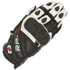 Oxford RP-3 Short Leather Motorcycle Glove - Black / White