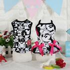 Внешний вид - Cartoon Black Dog Dress Vest Clothing For Dogs Pet Puppy Dog Clothes Products