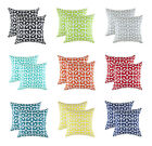 TreeWool, (2 Pack) Throw Pillow Cushion Covers in Cotton Canvas Octaline Accent