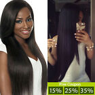 300g 7A Brazilian Virgin Human Hair Straight Weave 3 Bundles Unprocessed Queen