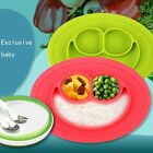 3IN1 One-Piece Silicone Placemat+Plate Dish Food Table Mat for Baby Toddler Kids
