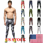 Mens Cycling GYM Compression Running Tights Camouflage Sport Train Trouser Pants