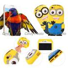 For Huawei Honor 6 Plus 6X Play 2X Tempered Glass 3D Silicone Minions Cover Case