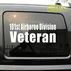 101st Airborne Division Veteran Vet Car Decal Sticker
