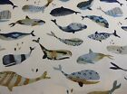 Whale Watching Antique Prestigious Textiles Cotton Curtain/Craft Fabric