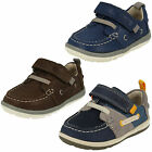 Boys Clarks Softly Boat Fst Leather First Walking Shoes