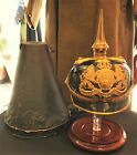 WW1 1914 Bavarian Officers Pickelhaube Helmet,  Excellent,  Named w Case