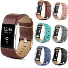 Elegant Genuine Leather Wristwatch Wrist Watch Band Strap For Fitbit Charge 2 **