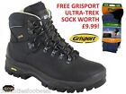 GriSport Mens Crusader Walking Boot FREE GRISPORT SOCKS - vibram sole WIDE FIT
