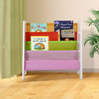 Wood Kids Book Shelf Sling Storage Rack Organizer Bookcase Display Holder Opt