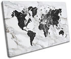 World Atlas Marble Office Maps Flags SINGLE CANVAS WALL ART Picture Print