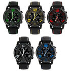 Men's Cool Analog Rubber Band Military Racing Quartz Sports Wrist Watch