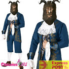 Licensed Mens Disney Deluxe Beast Live Action Beauty And The Beast Costume Mask