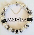NEW Authentic PANDORA Sterling Silver BRACELET with European CHARMs & Beads #47