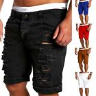 Fashion New Men's Destroyed Ripped Denim Pants Slim Skinny Straight Jeans Shorts