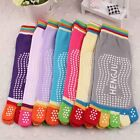 1 Pair Women Cotton Yoga Gym Toe Colorful Non Slip Massage Socks Full Grip Socks