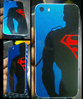 Apple iPhone 5/5s/SE Blue SuperMan Print Skin for back and sides only
