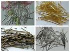 100 Silver, Gold Plated, Silver Tone, Bronze Mixed Flat Head Pins Findings