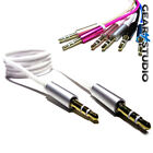 1M 3.5mm Jack To Jack AUX Stereo Plug Braided Male Audio Auxiliary Lead Cable UK
