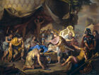 Dutch Greek historical art print: Death of Epaminondas
