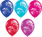 "20 X JUST MARRIED PIGEON 12"" PEARLISED HELIUM WEDDING PARTY BALLOON BALLOONS"