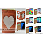 For Samsung Galaxy S9+ S9 S8 S8+ Timber Heart Print Flip Wallet Phone Case Cover