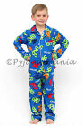 Pyjamas Boys Winter Flannel (Sz 3-7) Pjs Set Blue Skateboards Sz 3 4 5 6 7