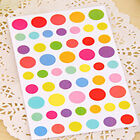 6 Sheets Sticker Colorful Rainbow Sticker Diary Planner Journal Albums Photo Z3
