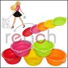 5 PCS Dog Cat Pet Portable Silicone Collapsible Travel Feeding Bowl Water Dish