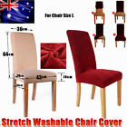 1/4/6/8 PCS Dining Sfter Stretch Chair Covers Protector Washable Slipcover -NEW