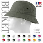 BUCKET HAT Cap Cotton Fishing Boonie Brim visor Sun Safari Summer Men Camping 2