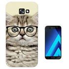 040 Kitten Cat glasses Case Gel Cover For ipod iphone LG HTC Samsung S8