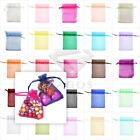 50/100/200pcs Gift Organza Bags Wedding Favour Jewelry Candy Pouches 7x9cm