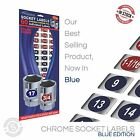 Chrome Socket Labels (blue) Multi Lot Deals for mechanics & the home craftsman