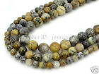 Natural Dendrite Moss Opal Gemstone Round Spcer Beads 15.5'' 6mm 8mm 10mm 12mm