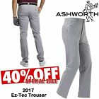 ASHWORTH GOLF TROUSERS MENS GOLF TROUSERS GREY ALL SIZES * 40% SALE * GOLF PANTS