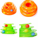 Funny Cat Toy Plastic 3 Levels Tower Cat Toys Track Ball Pet Products Amusement