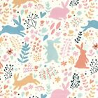 Printed Polyester Cotton - Bunny Rabbit Design - 7499