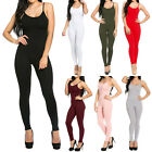 New Fitted Cami Strap Unitard Catsuit Bodycon Stretch Jumpsuit Size S-2XL RF0604