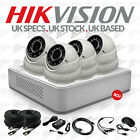 Full HD 1080p HIKVISION 8Ch Dvr & 4x HDTVI Cameras 30M IR CCTV Camera Kit UK HDS